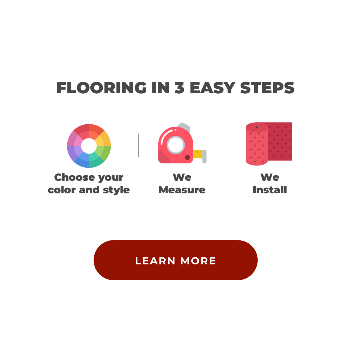 Flooring in 3 easy steps   Dalton Flooring Outlet
