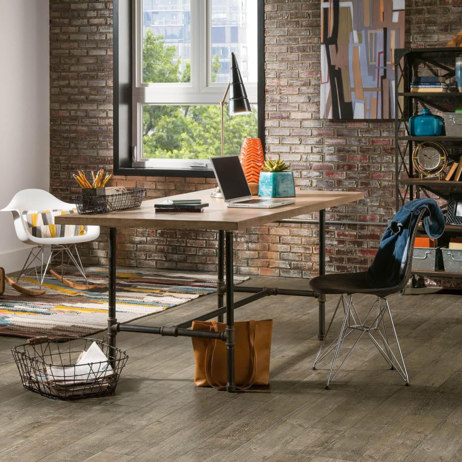 Luxury Vinyl Tile Home Office | Dalton Flooring Outlet
