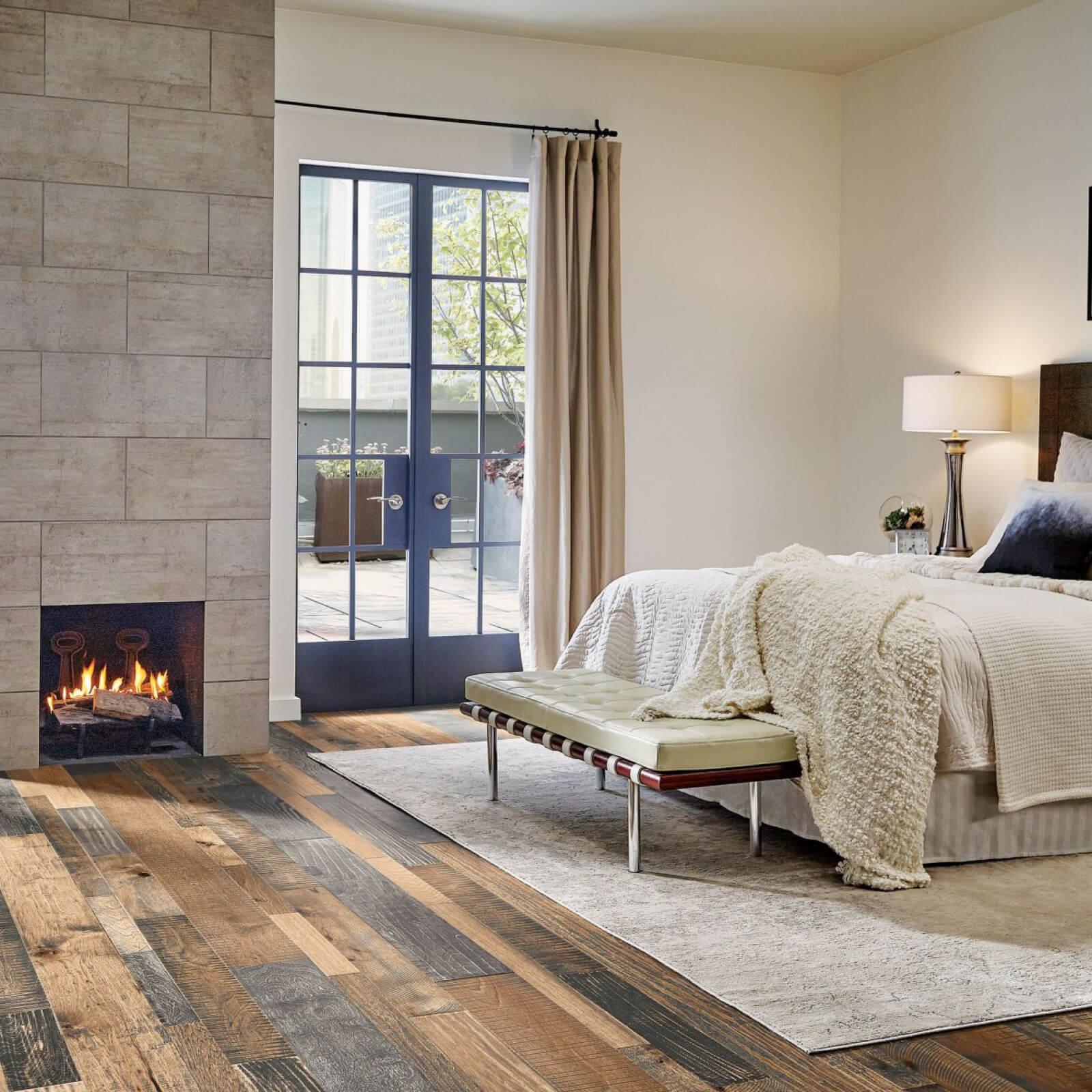 Hardwood Flooring in Bedroom | Dalton Flooring Outlet