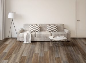 Vinyl Flooring and Couch | Dalton Flooring Outlet