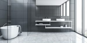 Tiled Bathroom   Dalton Flooring Outlet